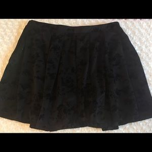 Torrid black rose print skater skirt